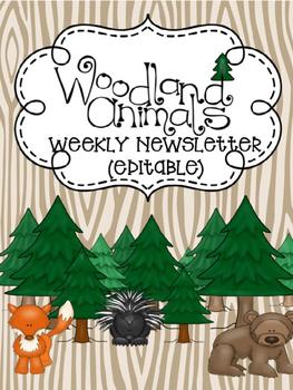 Woodland Weekly Newsletter (Editable)