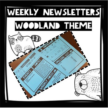 Woodland Weekly Newsletter (Fully Editable)