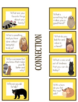 Woodland Wellness Game & Conversation Starters *Resilience *Grit *Optimism *Hope