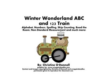 Woodland Winter Trains: ABC, 1-100, word & number walls, worksheets
