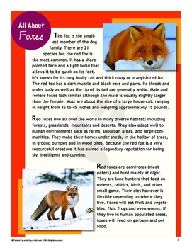 Art Lesson: Directed Drawing~Woodland Wonders: FOX