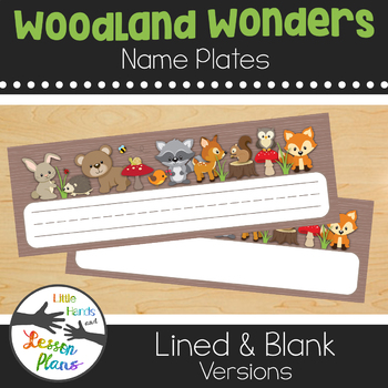 Woodland Wonders Name Plates - Camping, Forest, Woodland Theme