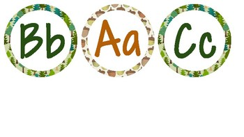 Woodland Word Wall Letters