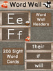 Woodland Word Wall and Sight Word Cards