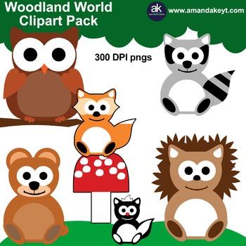 Woodland World Clipart