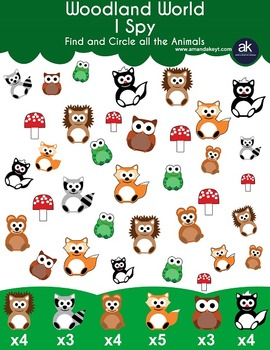 Woodland World Math and Crafts Printable Pack