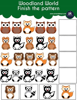 Woodland World Worksheets and More Printable Pack