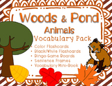 Woodland and Pond Animals Vocabulary Flashcards, Bingo, an