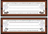 Woodland animal nameplates - English copy