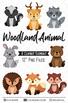 Woodland animals Clipart, Fox Deer hedhog Clipart and digital images