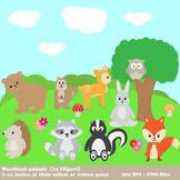 Woodland Animals Digital Clipart