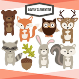 Woodland animals clip art - forest animals - Lovely Clemen