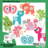 Woodland animals clip art - Woodland fantasy