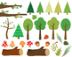 Woodland clipart animals rabbit fox images forest clip art Paper Backgrounds