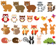Woodland clipart animals rabbit fox images forest clip art