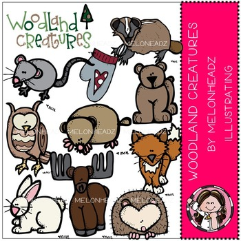 Woodland creatures clip art - COMBO PACK- by Melonheadz