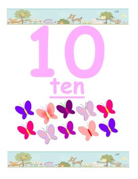 Woodland or Forest Number Posters 1-10