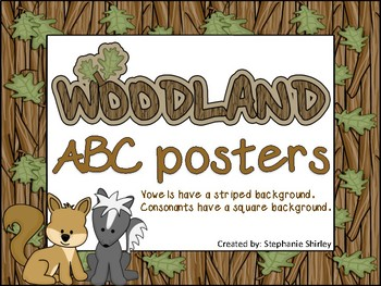 Woodland themed ABC posters