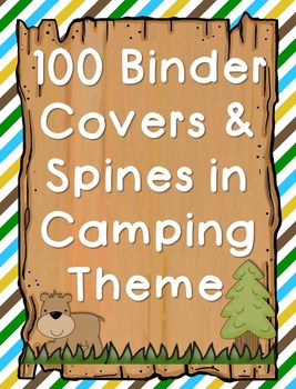 Woodland/Camping Themed Binder Covers