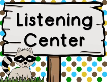 Woodland/Camping Themed Center Signs
