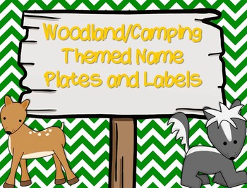 Woodland/Camping Themed Name Plates and Labels