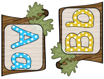 Woodland/Camping Themed Word Wall Letters and Blanks