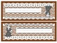 Woodland/Forest Theme Nameplates Chevron (Blue, Green, Aqua, Brown)