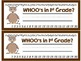 Woodland/Forest Theme Nameplates First Grade D'Nealian