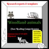 Woodlands Animal Research/Close Sentences-Pebble Go