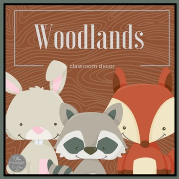 Woodlands Classroom Decor Set