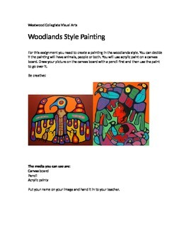 Woodlands Style Painting- Special Needs