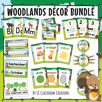 Woodlands Themed Classroom Decor Bundle