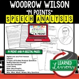 Woodrow Wilson 14 Points Speech Analysis & Writing Activity