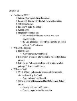 Woodrow Wilson: 1912-1916