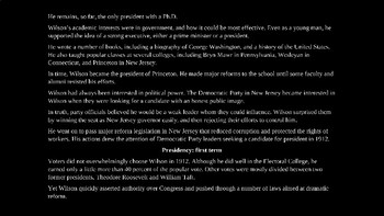 Woodrow Wilson PowerPoint