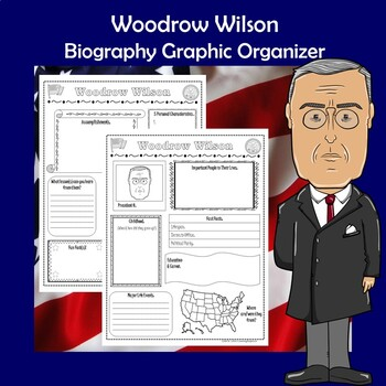 Woodrow Wilson President Biography Research Graphic Organizer