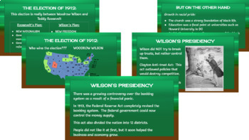 Woodrow Wilson power point notes and student outline