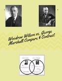 Woodrow Wilson vs. George C. Marshall Venn Diagram notes