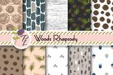 Woods Rhapsody Patterns Seamless Pattern Set. Digital paper pack.