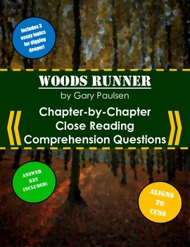 woods runner close reading comprehension questions essay topics