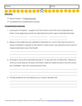 Woods Runner Close Reading Comprehension Questions & Essay Topics