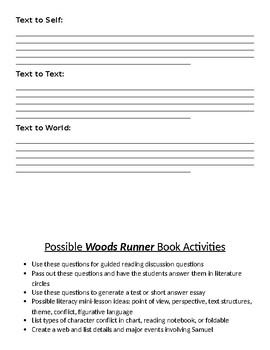 Woods Runner Novel Questions