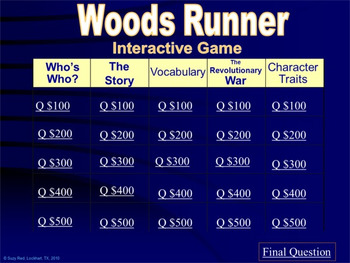 Woods Runner by Gary Paulsen, Novel Study