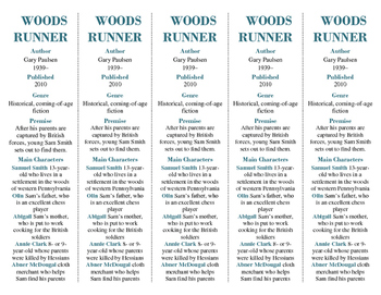 "Woods Runner edition of Bookmarks Plus: Handy Reading Aid; Great ""Gift"""