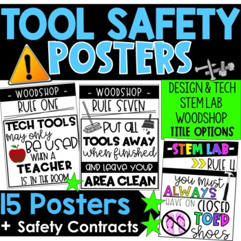Woodshop Rules Posters