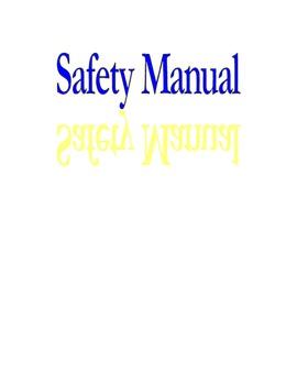 Woodshop Safety Manual