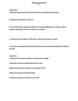 Woodsong Guided Reading Questions
