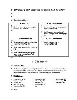 Woodsong Novel Study