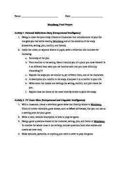 Novel Study - Woodsong - Vocab / Comprehension Assessments, Projects, Rubrics