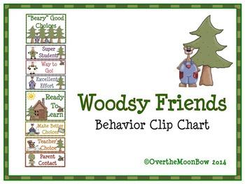 Woodsy Friends Behavior Clip Chart